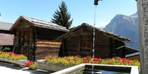 Brunnen in Mund, Wallis